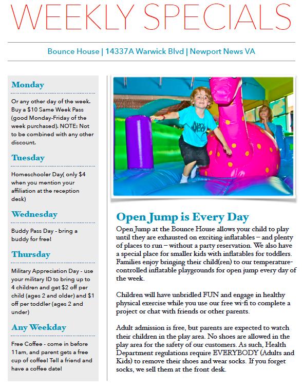 weekly specials nn